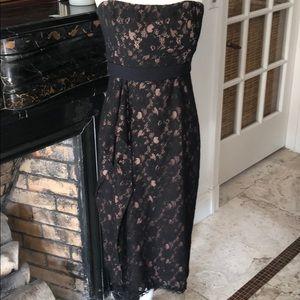 BCBG black strapless cocktail dress